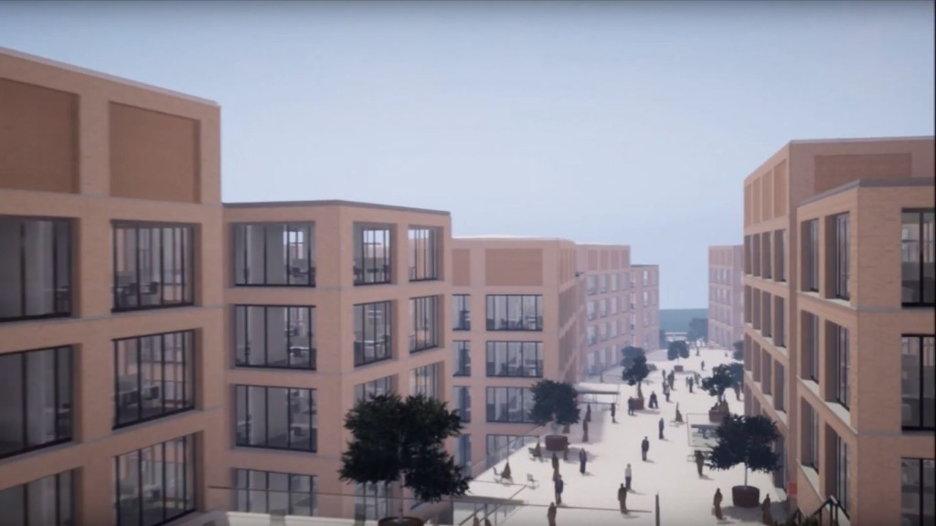 Video in Virtual Reality des fertigen Campus 2023